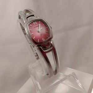 Women's Fossil F2 Pink Silver Band Bracelet